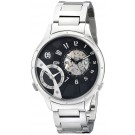 Charles-Hubert Paris Men's Stainless Steel Dual Time Mechanical and Quartz Watch