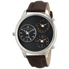 Charles-Hubert Paris Men's Stainless Steel Triple Time Quartz Watch