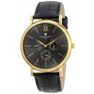 Charles-Hubert Paris Men's Gold-Plated Stainless Steel Multifunction Quartz Watch