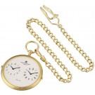 Charles-Hubert Paris Gold-Plated Dual Time Quartz Pocket Watch