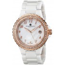 Charles-Hubert Paris Women's White Ceramic Quartz Watch